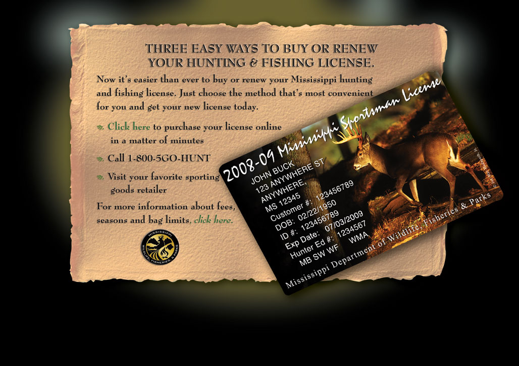 Three easy ways to buy or renew your hunting and fishing for Renew fishing license